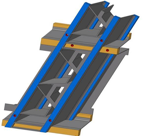 Abbildung: Ausschnitt eines Bauteils zur Veranschaulichung der Skelettbauweise (Quelle: BMW AG)
