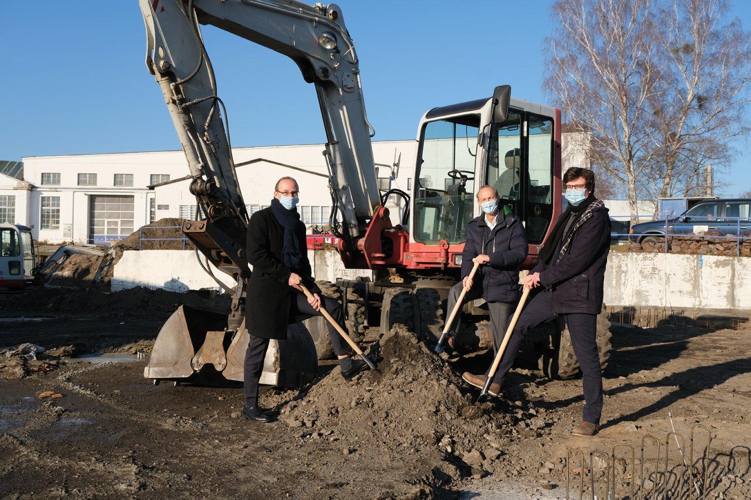 herone GmbH Spatenstich Produktionshalle